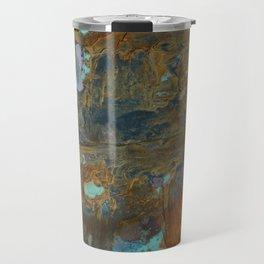 Blue Lagoons in Rusty World Travel Mug