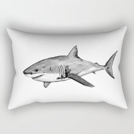 The Great White Shark Rectangular Pillow