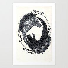 Wolf Chase Art Print