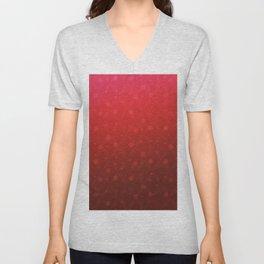 Red Tone on Tone Dots Pattern Unisex V-Neck