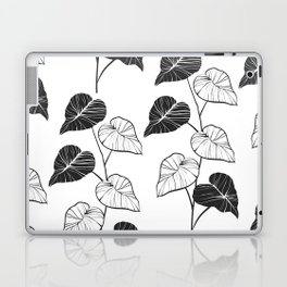 black and white leaves Laptop & iPad Skin