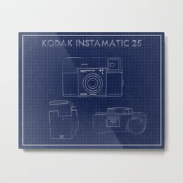 Kodak instamatic blueprint Metal Print