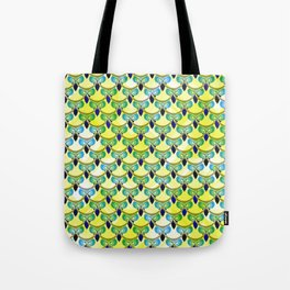 Tired owls in yellow Tote Bag
