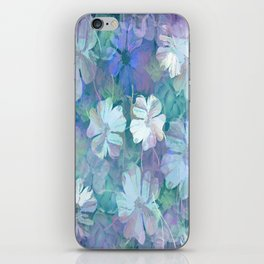 Painterly Midnight Floral Abstract iPhone Skin