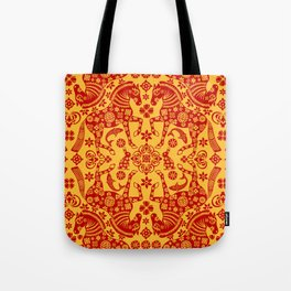 Folky Horses Tote Bag