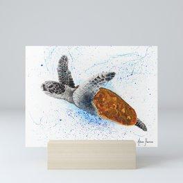 Opulent Ocean Turtle Mini Art Print