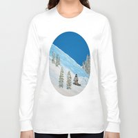 snowboarding Long Sleeve T-shirts featuring Snowboarding by N_T_STEELART