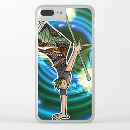 double staff guy Clear iPhone Case
