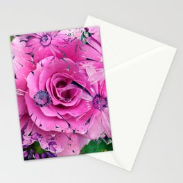 504 - Abstract Flower Design Stationery Cards