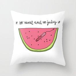 Sweet sweet Watermelon Throw Pillow