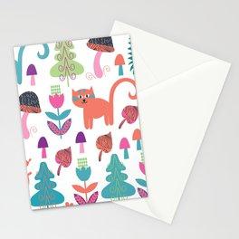 Animals pattern 4F Stationery Cards