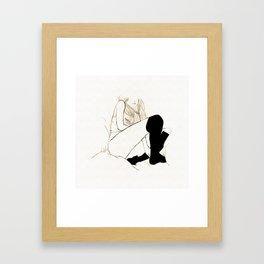 Knee High - Black and White series Framed Art Print