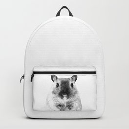 Black and White Hamster Backpack