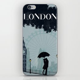 London vintage poster travel iPhone Skin