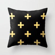 Crosses - gold Throw Pillow