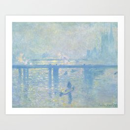 1899-Claude Monet-Charing Cross Bridge-65 x 80 Art Print
