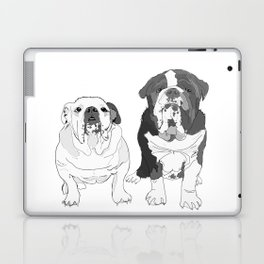 English Bulldog Brothers Laptop & iPad Skin