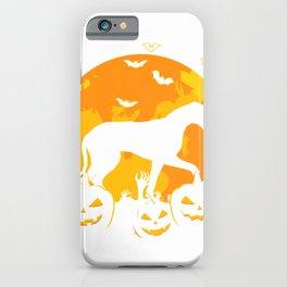 Halloween Great Dane Jack O Lantern Dog Puppy Pumpkin Gifts T-Shirt iPhone Case