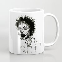 wes anderson Mugs featuring Laurie Anderson by Simone Bellenoit : Art & Illustration