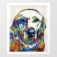 Labrador Retriever Art - Play With Me - By Sharon Cummings Art Print
