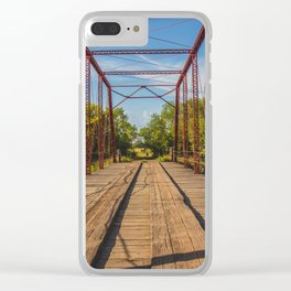 Stephens Bridge, North Dakota, 7 Clear iPhone Case
