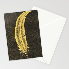 Yellow Feather Stationery Cards