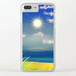 Strand '& Meer&Himmel. Clear iPhone Case