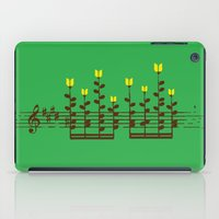 music notes iPad Cases featuring Music notes garden by Picomodi
