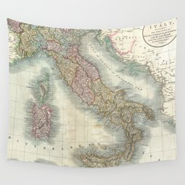 Vintage Map of Italy (1799) Wall Tapestry