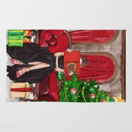 The Christmas Book Rug