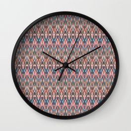 Abstract geometric wave . Wall Clock