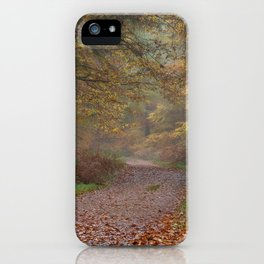 Down the Forest Track iPhone Case