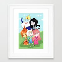 finn and jake Framed Art Prints featuring Finn & Jake  by Rikku Hanari