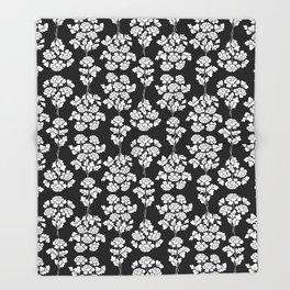 Black roses bouquet Throw Blanket