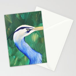 Heron in the Grass Stationery Cards