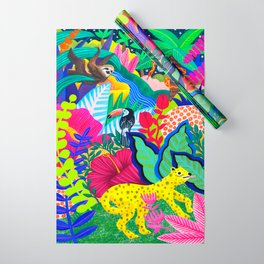 Jungle Party Animals Wrapping Paper