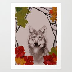 among the leaves (evening) Art Print