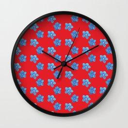 Gentian pattern Wall Clock