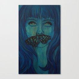 Blue Woodengirl  Canvas Print