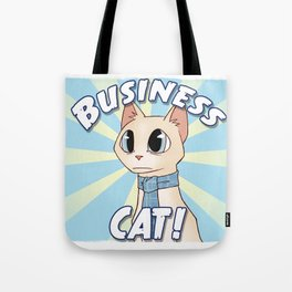 Business Cat! Tote Bag
