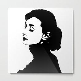 Audrey Hepburn Is Class Metal Print