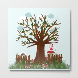 Orange  tree and fairy tale Metal Print
