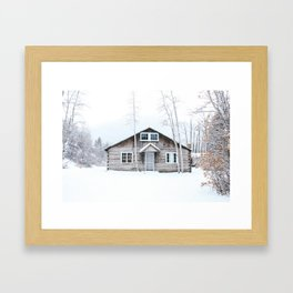 Aspen in the Winter Framed Art Print