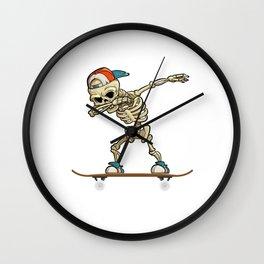 Dabbing Skeleton Skater Wall Clock