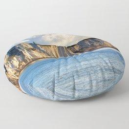 #Cretaceous #Rocks of #Dover #seaside Floor Pillow
