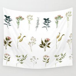 Delicate Floral Pieces Wall Tapestry
