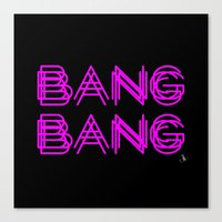 minaj Canvas Prints featuring BANG BANG by Joe Alexander