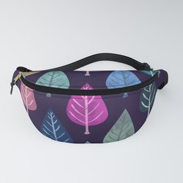 Watercolor Forest Pattern IV Fanny Pack