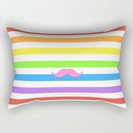 Pink Rainbow Mustache Madness! Rectangular Pillow