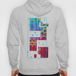Sunflower Field  in Moonlight Abstract Hoody